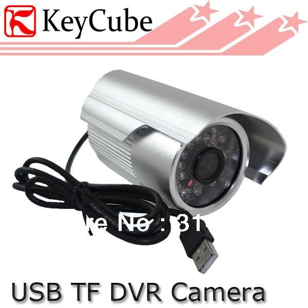 Waterproof 1/4 Inch CMOS CCTV Surveillance DVR Camera TF Card Digital Video Recorder<br>