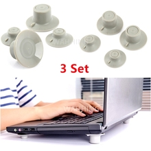 3Set Universal Silicone Cooling Pads Notebook Cooler Cooling Mat Stand Holder For Notebook Laptop PC HY1173*3