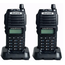 2pcs BaoFeng UV-82 Dual-Band 136-174/400-520 MHz FM Ham Two-way Radio station, Amateur Walkie Talkie Transceiver,  BF-UV82