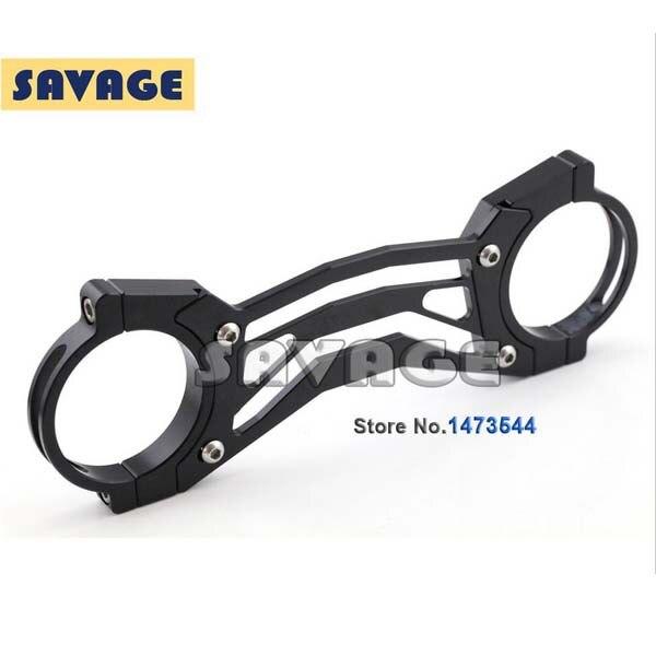For Yamaha XJR 1300 1998-2010 BALANCE SHOCK FRONT FORK BRACE Black<br>