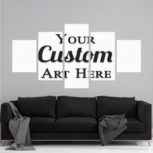 Wall Art Customized HD Printed Painting Custom Made Canvas Picture Frame 5 Panel Modular Abstract Poster Home Decor Photo PENGDA(China)