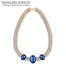 Neoglory Crystal Zinc Alloy Chunky Punk Chain Necklaces Chokers Statement Indian Custom Jewelry 2017 Fashion Birthday Gift  QC4