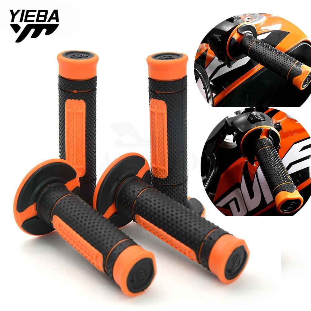 22MM Motorcycle Hand Grips Handle Rubber Bar Gel Grip FOR KTM exc-f 250 07-10 81M 250XC-W/XCF-W/SX 250EXC/EXC-R/EXC-F 14-16