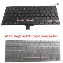 "5pcs 100%NEW SP Spanish Spain Keyboard For Macbook Pro 13"" A1278 SP Spanish Spain keyboard mc700 mc374 mb990 md101 2009-2013Year"