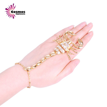 new Trendy design gold alloy and set with ring for women personality animal vintage elastic silver hand rings hot sale promotion