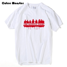 Movie The Hateful Eight Graphic T-Shirts Men Quentin Tarantino Tees Male Hip Hop Red Printed Cotton T shirt Clothing 3XL(China)