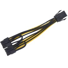 10pcs 6inch Molex 6-pin PCI Express to 2x PCIe 8(6+2) pin Motherboard Graphics Video Card PCI-e GPU VGA Splitter Hub Power Cable