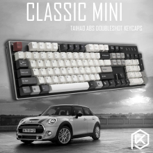 taihao abs double shot keycaps classic mini car for diy gaming mechanical keyboard color of whtie grey red light grey