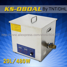 20L Industrial Digital Powerful Ultrasonic Cleaner KS-080AL 480W 28-40KHz Ultrasonic Washing Machine+basket By DHL TNT