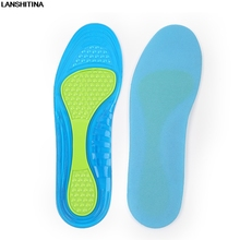 2017 New Breathable Shoes Insoles Sweat Shock Absorbing Insole Silicone Pads Accessoire Chaussure Semelles Confort Inlegzolen(China)