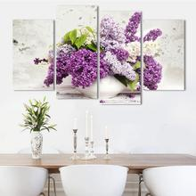 2017 Direct Selling Rushed Fashion Lavender Flower Modern Canvas Painting Beautiful Decorative Wall Art Pictures Unframed