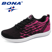 BONA New Arrival Popular Style Women Running Shoes Outdoor Walking Jogging Sneakers Lace Up Sport Shoes Mesh Upper Athletic Shoe