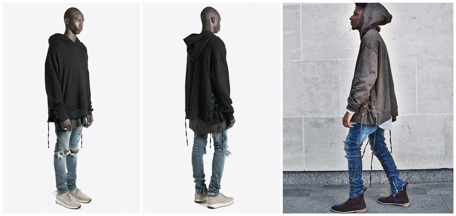 Una Reta Brand New Design Hoodie Men Fashion Sweatshirts Bandage Design Hip-Hop Style Plus Size M-5XL Pullover Sweatshirts Men 5