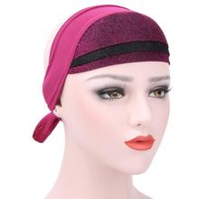 2017 Most Popular Women Muslim Stretch Turban Hat Chemo Cap Hair Loss Head Scarf Wrap Hijib Cap Soft material Vicky