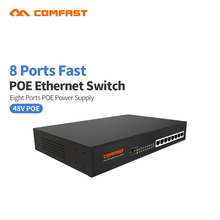 10/100M 8 POE Switch AP Manager RJ45 Port Port POE Switch Comfast Network Compatible Network Cameras Wireless AP Power