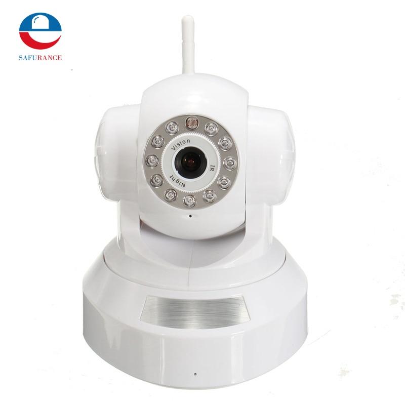 Hot Sale P2P Network IP Camera Telecamera Vediocamera Wirless WI-FI Mirco T/F Card Slot White<br><br>Aliexpress