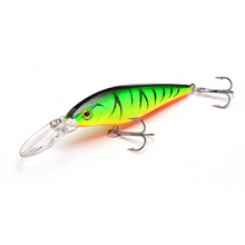 1.5-4m 10.5g 11cm Hard Bait Minnow Fishing lures Crankbait Wobbler Depth Dive Bass Fresh Salt water 4# Hook(China)