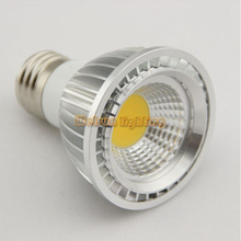 Dimmable PAR20 LED bulb E27 GU10 MR16 spot lamp 5W high power cob LED light(China)