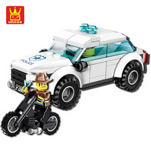City Series Police Car Motorcycle Building Blocks Policeman Models Toys For Children Boy Gifts playmobil legoe Compatible