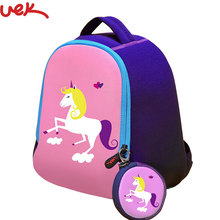 Unicorn Printing Children Backpack Girls And Boys Back Pack Kids Bag Animal School Bags Preschool Backpack Kids Mochila A2277(China)