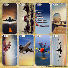 Airplane At The Sunrise aircraft plane landing design hard clear Case Cover for Apple iPhone 7 7Plus 6 6s Plus SE 5 5s Phone Cas(China)