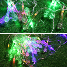 10 LED Water Drop Wedding Xmas Tree Party Decor Outdoor Garden Yard Fairy Decoration String Lamp FULI(China)