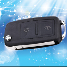 2016 Hot Selling Black Replacement Entry Key Remote Fob Shell Case Housing 2 buttons for Volkswagen VW Polo Golf