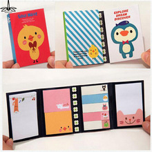 Animal Cat Bear Cute Kawaii Sticky Notes Post It Memo Pad School Supplies Planner Stickers Paper Bookmarks Korean Stationery