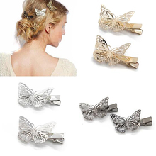 4 PCS Vintage Hair Accessories Black Gold Butterfly Hair Clip Fancy Metal Hair Barrette Wedding Hairpin Hair Jewelry For Women