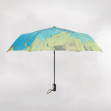 10pcs New Product world map Sunscreen Anti-UV Automatic umbrella Parasol Outdoor Useful rain umbrellas WA0977