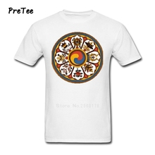 Male T Shirt 100% Cotton Short Sleeve O Neck Tshirt Boy buddhism Tops 2017 Popular buddha T-shirt For Teenage
