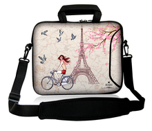 "Neoprene 10""13""14""15""17"" Handle Computer Protect Case Cyclist Girl Design Laptop Carry PC Bag Shoulder Pouch For Acer ASUS HP"