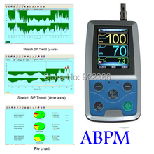 3 cuffs Children & Adult 24 hours Ambulatory Blood Pressure Monitor Holter BP monitor ABPM + PC software + USB + Carring case