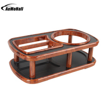 Classical Car Styling Auto Instrument Desk Table Cup Drink Holder Wood Grain Rims Cup Drink Holder