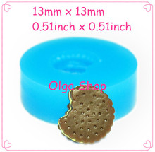 13mm QYL342 Mini Bitten Cream Felt Cookie Silicone Mold Fondant Cake Decoration Polymer Clay Resin Nougat Mold