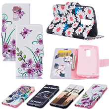 Stand Holder PU Leather Flip Wallet Bag Phone Case For LG K7/Tribute 5/M1/K8 K10/M2/K420N Protection Box With Card Slots Cover