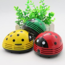 New Style Portable Cute Beetle Cartoon Mini Desktop Cleaner Desk Dust Cleaner Collector For Home Office(China)