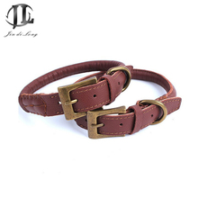 5 Piece / Set Top Real Yellow Leather Collar For Dogs Unilateral Adjustable Soft Leather Dog Collars Pet Supplies For Dogs(China)