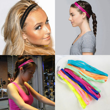 Helisopus Double Sports Elastic Headband Basketball Yoga Anti-Slip Sweatband Curl Hair Band Running Fitness Head Sweat Band