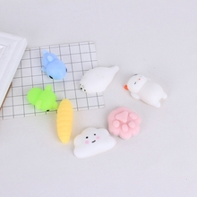 KALCAS Cute Bear Cat Silicone Squishy Mobile Phone Cases DIY Squeeze Healing Fun Kids Adult Stress Reliever Pinch Toy Kneaded(China)