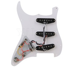 Yibuy 3-ply SSS PVC Pickguard Scratch Plate Assembly with 5-Way Switch