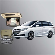 BigBigRoad For Honda Odyssey ELYSION CRV CR-V Car Roof Mounted in car Monitor LED Digital Screen Flip Down Monitor DVD