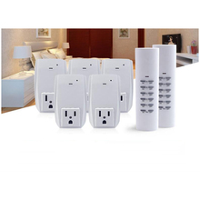 Smart  USA Plug 2 Wireless Remote Control, 5 Socket Receiver Smart Power Socket Switch Family Electrical Remote Socket