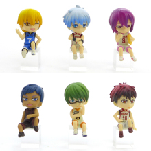 4.5cm 6pcs/lot Japanese original anime figure Kuroko No Basketball Q version action figure set collectible model toys for boys g(China)