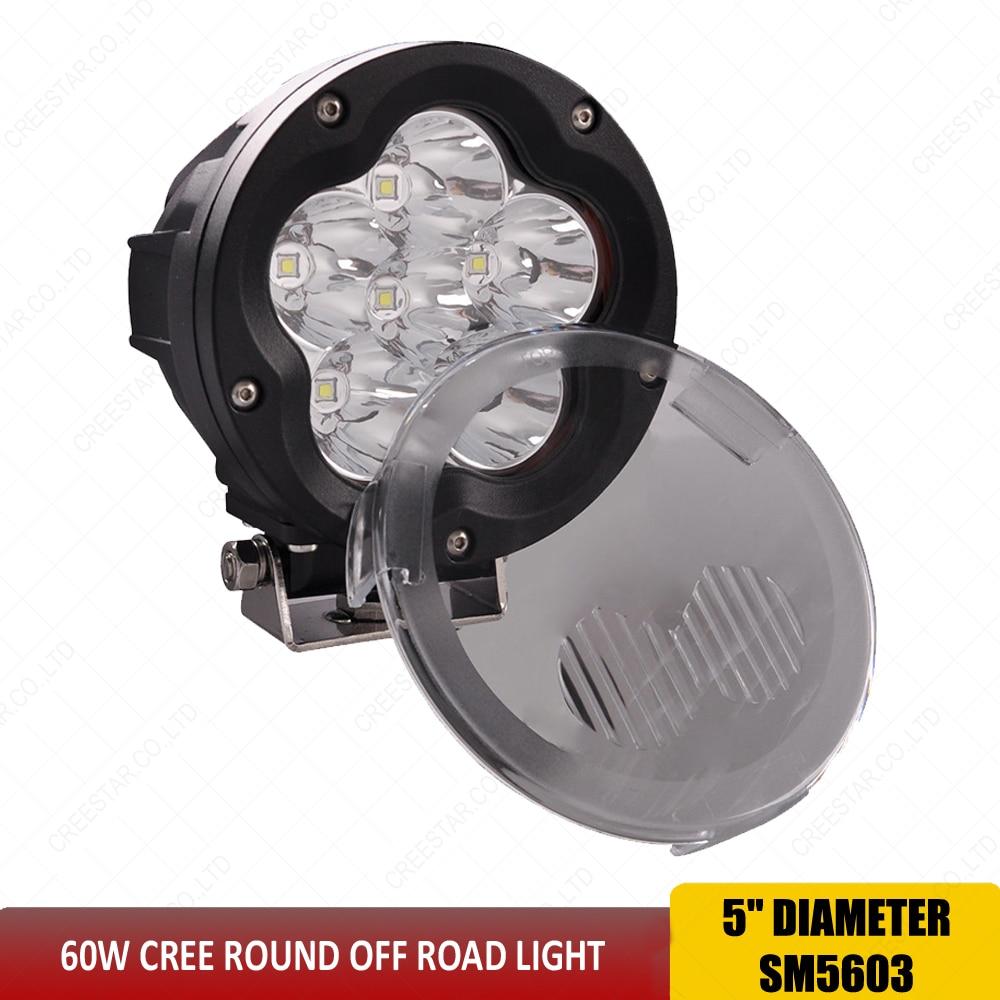 1X 5.5/'/' 45W Round LED Work Light Flood Headlight Trucks 4WD SUV Off Road Boat