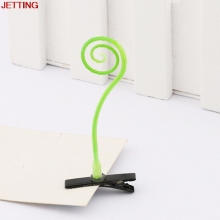 JETTING-Novelty grass clips popular headwear clasp antenna hairpins 4*6cm hair pin bean sprout headwear hair claw clip