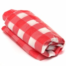 Casual Red Plaid Disposable Plastic Table Covers Outdoor Picnic Party Tablecloths Candy Color Simple Style(China)