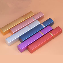 60PCS 12ML Atomizer Spray Bottle Aluminum Parfum Sample Bottle Square Shape Empty Cosmetic Containers Gold Glass Perfume Bottles(China)