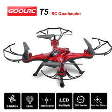Original GOOLRC T5 2.4GHz 4CH 6-axis Gyro RC Quadcopter with Headless Mode One Key Return CF Mode 360 Eversion LED Light(China)