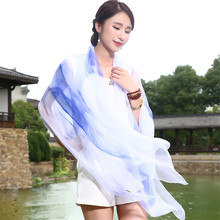 High quality fashion sexy ice silk scarves silk shawl super sunscreen air conditioner all-match beach towel wrapped female wj58